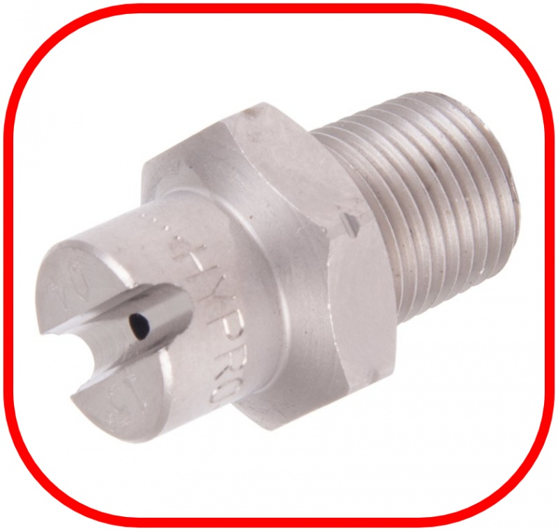 "Stainless Steel 1/8"" BSP Jet 15 Degree Nozzle"
