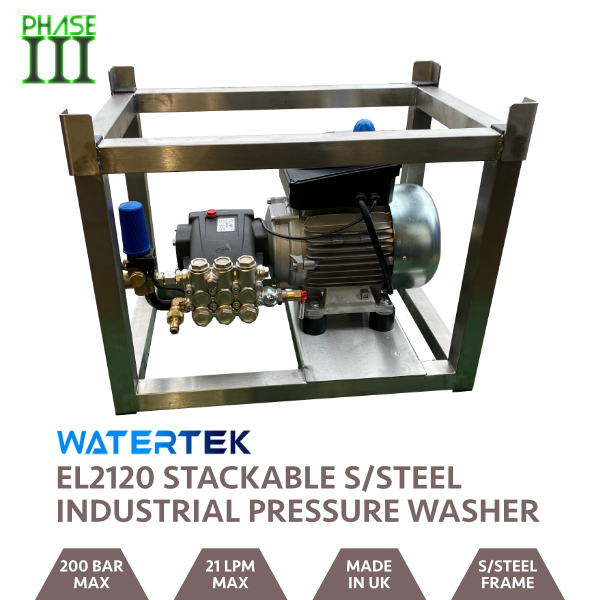 Watertek EL2120 3 Phase Industrial Pressure Washer