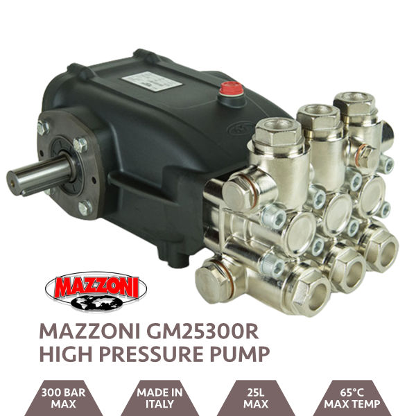 Mazzoni 25LPM 300BAR Male Shaft Pump