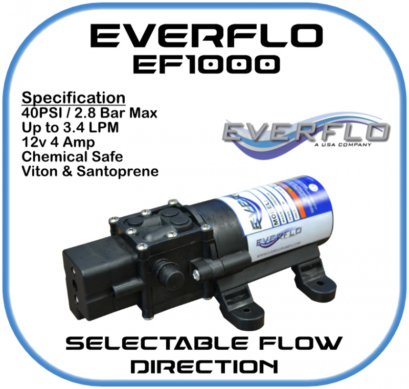 Everflo EF1000 Demand  Pump 12 Volt