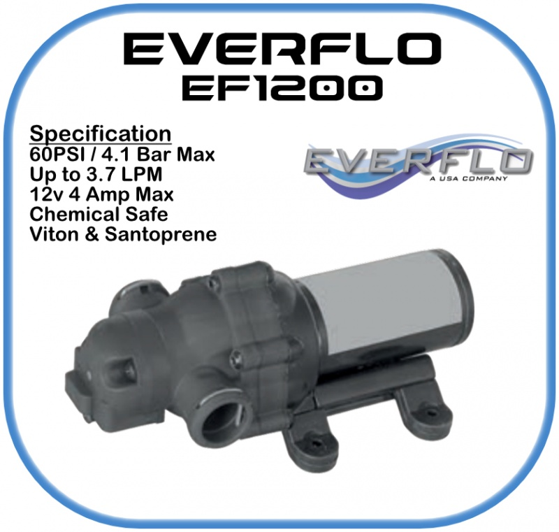 Everflo EF1200 Demand  Pump 12 Volt