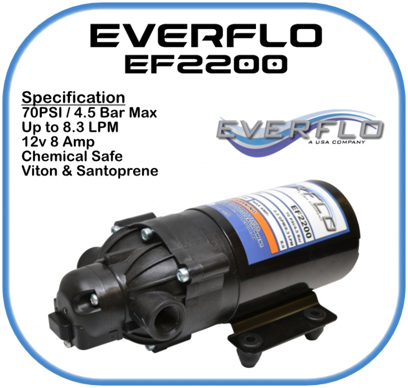 Everflo EF2200 Demand Pump 12 Volt