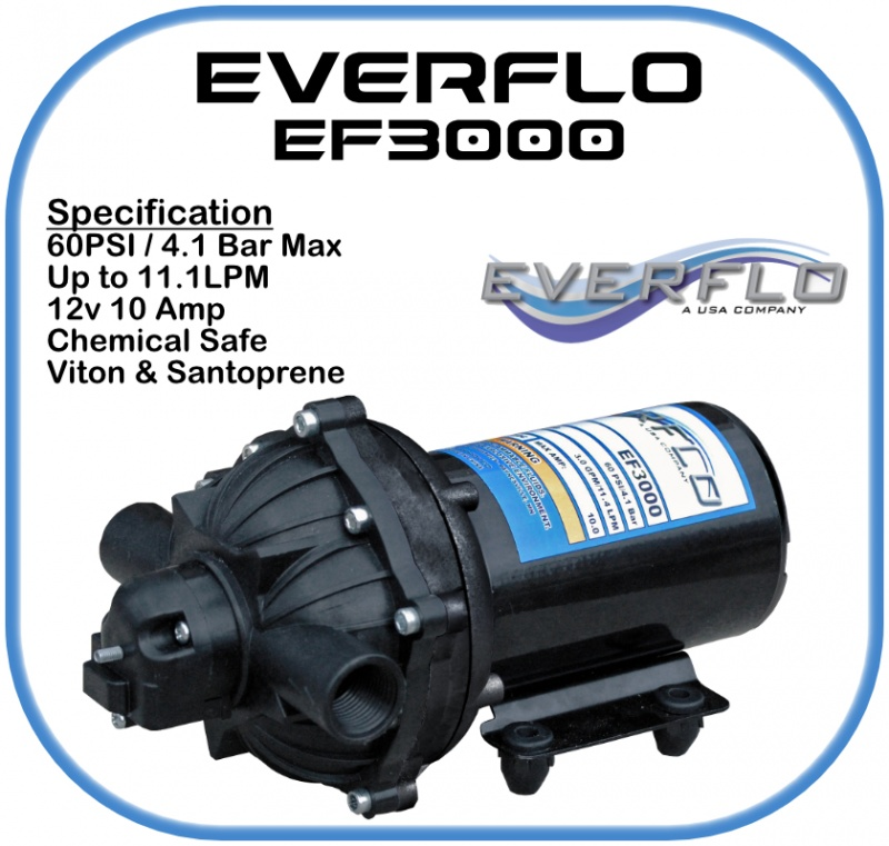 Everflo EF3000 Demand Pump 12 Volt