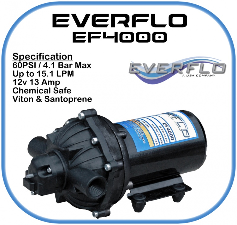 Everflo EF4000 Demand  Pump 12 Volt