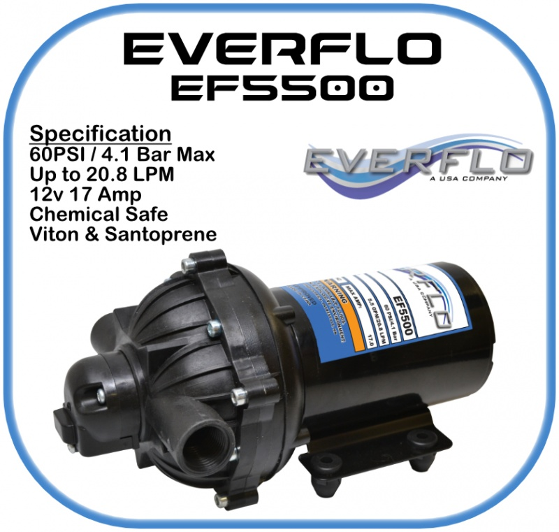 Everflo EF5500 Demand  Pump 12 Volt