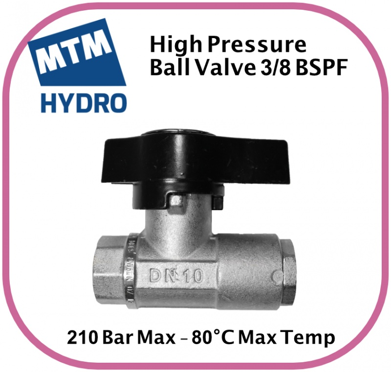 MTM HYDRO Plated Brass Ball Valve 3/8F BSP