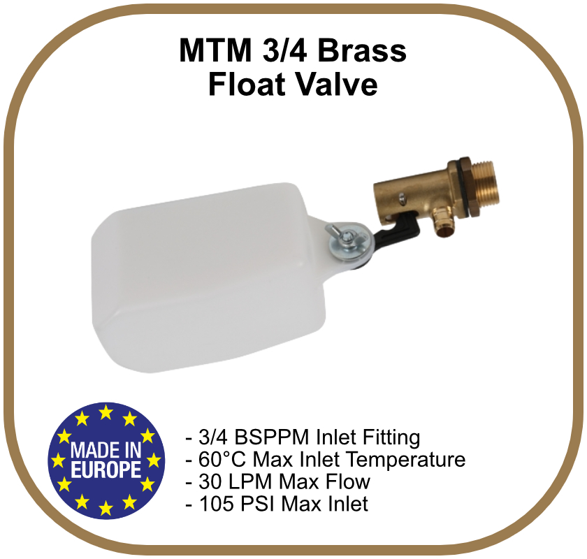 MTM Brass 3/4 BSPPM Float Valve