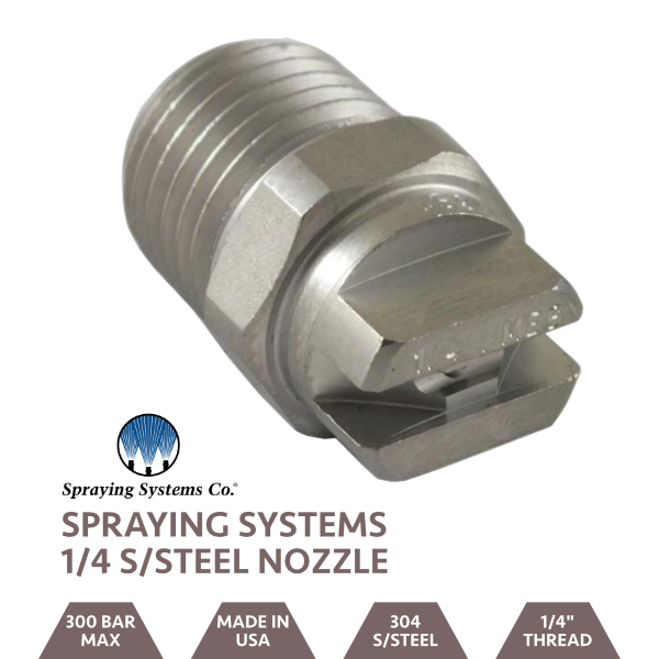 "Stainless Steel 1/4"" BSP Jet 25 Degree Nozzle"