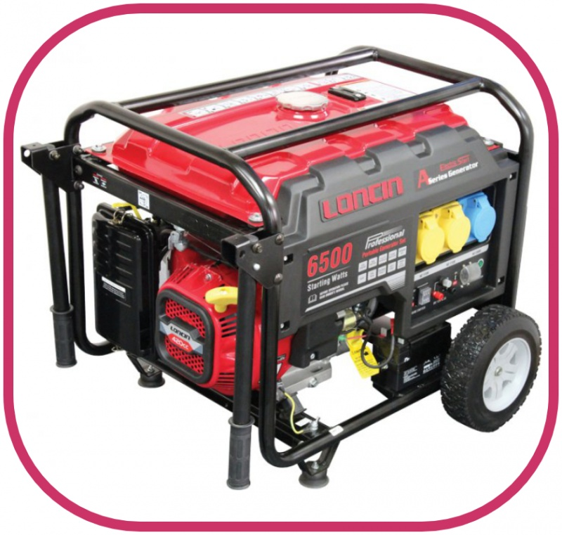 Loncin 5.5kW Electric Start Generator LC6500