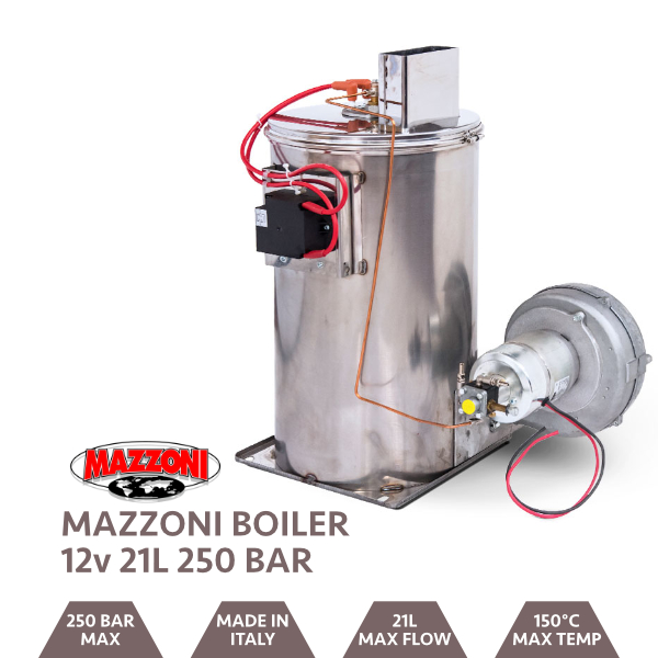 Mazzoni Boiler Without  Control Panel 250BAR @ 20LPM 12V