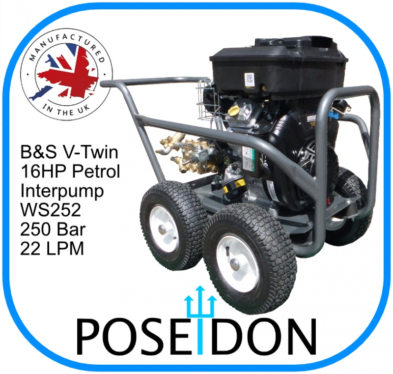 Poseidon Briggs & Stratton 16HP Interpump Gearbox Drive 22LPM @ 250 Bar
