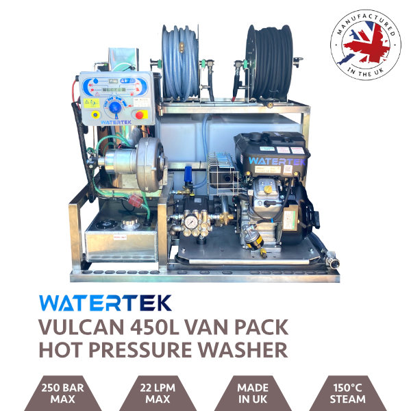 Watertek Vulcan 460L Vanguard Hot & Cold Van-Pack