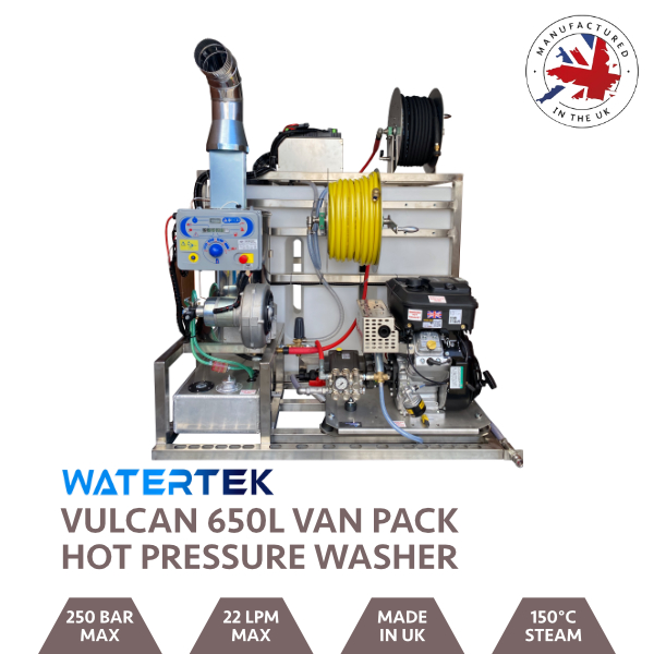 Watertek Vulcan 650L Vanguard Hot & Cold Van-Pack