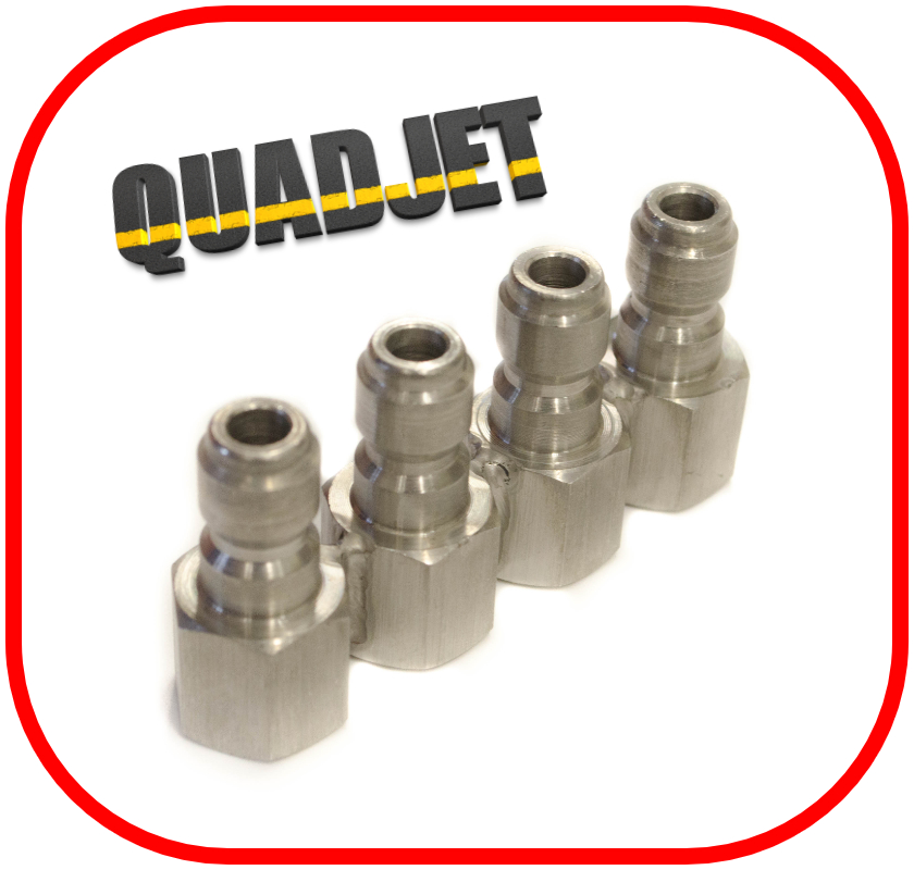 Stainless Steel QuadJet - J-Rod Assembly