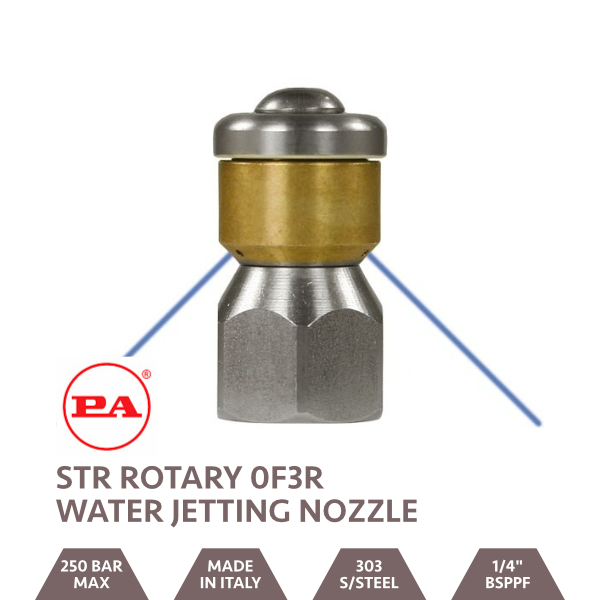 STR Rotary Water Jetting Nozzle 0F3R 1/4