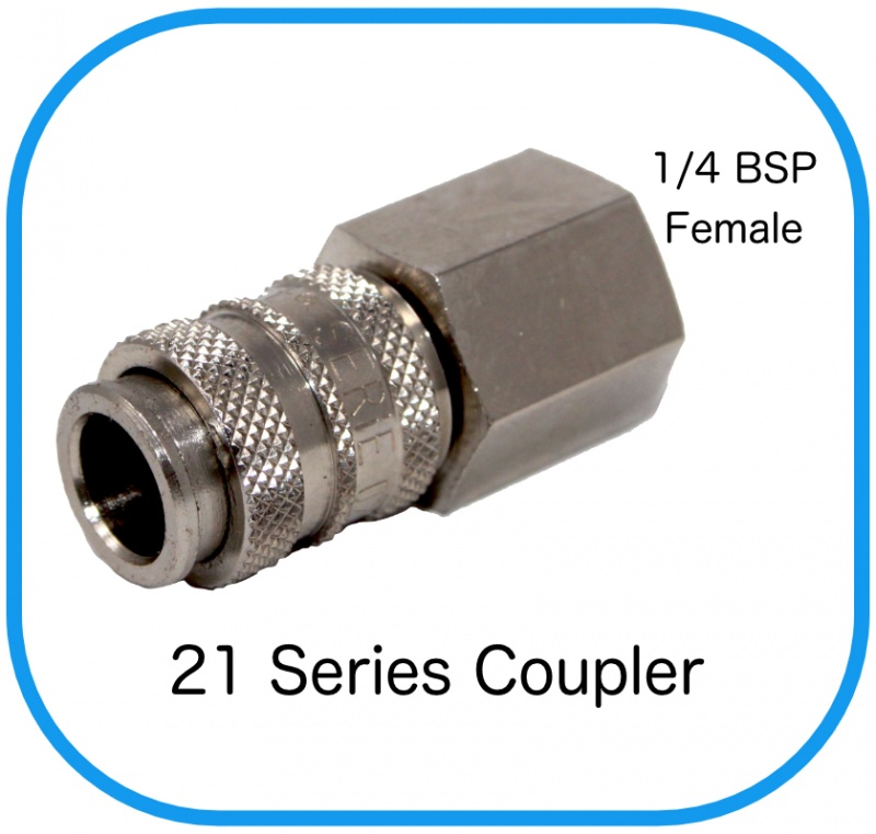 "Series 21 Rectus Compatible Female Coupling x 1/4"" Female BSP"