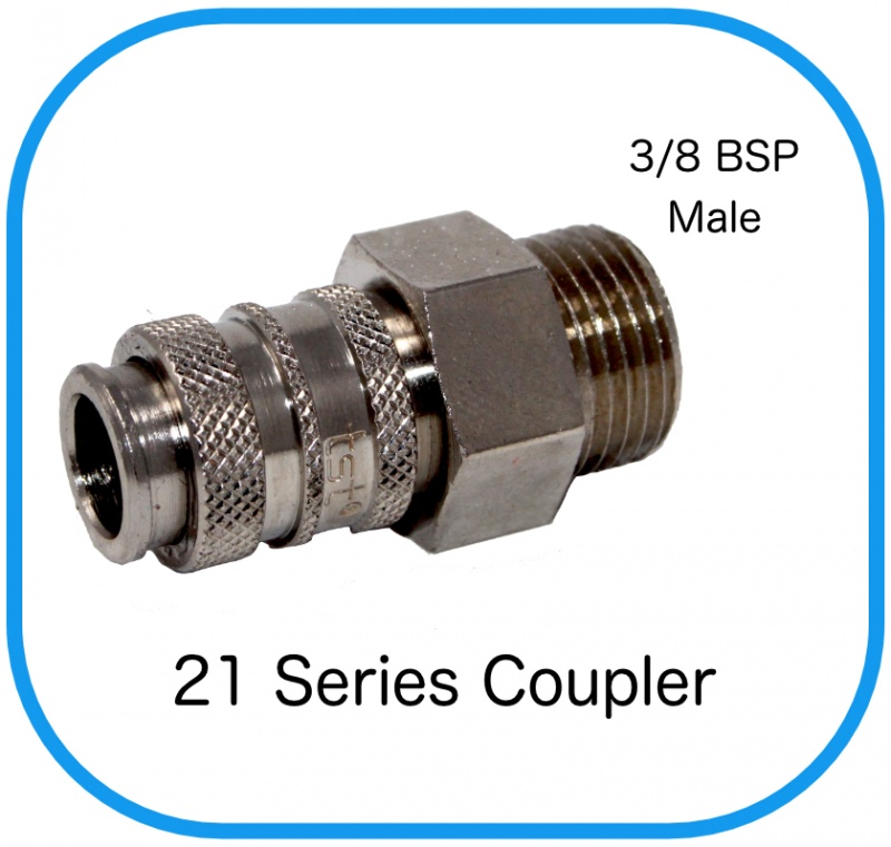 "Series 21 Rectus Compatible Female Coupling x 3/8"" Male BSP"
