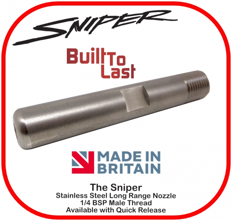 Sniper Nozzle Stainless Steel 1/4 BSP