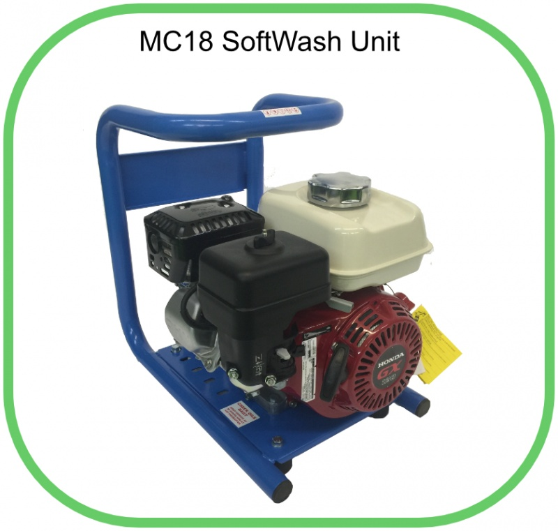 MC18 SoftWash Unit In Stainless Steel Carry Frame