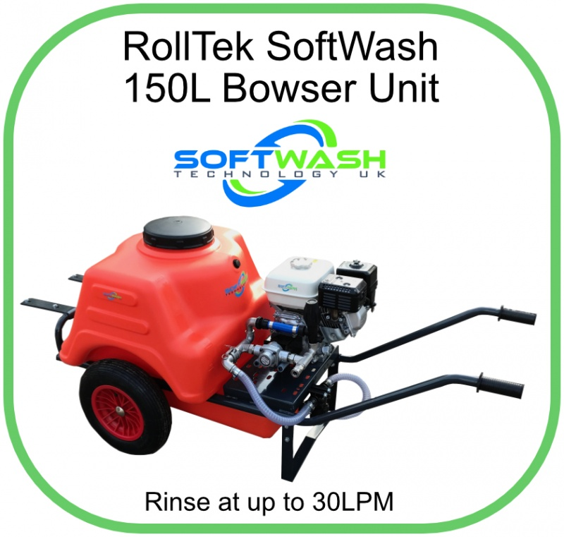 Rolltek SoftWash Bowser 150L Tank