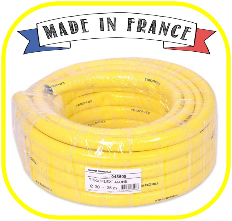 "Yellow Tricoflex Garden Hose 25mm (1"") ID"