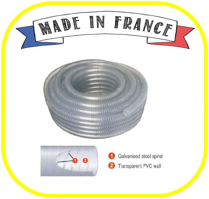 Clear Wire Reinforced Hose 25mm ID