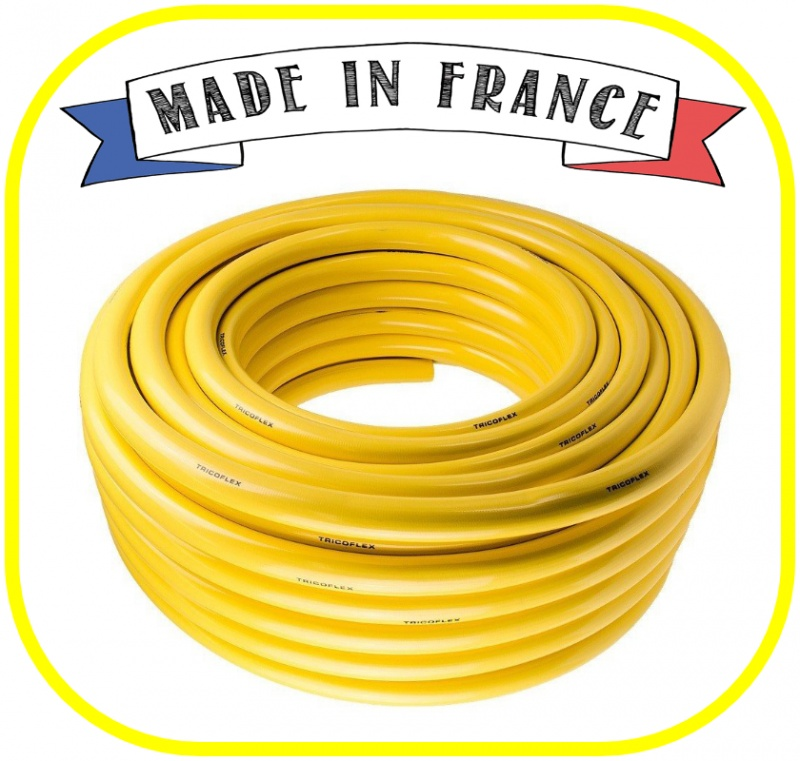 "Yellow Tricoflex Garden Hose 19mm (3/4"") ID"