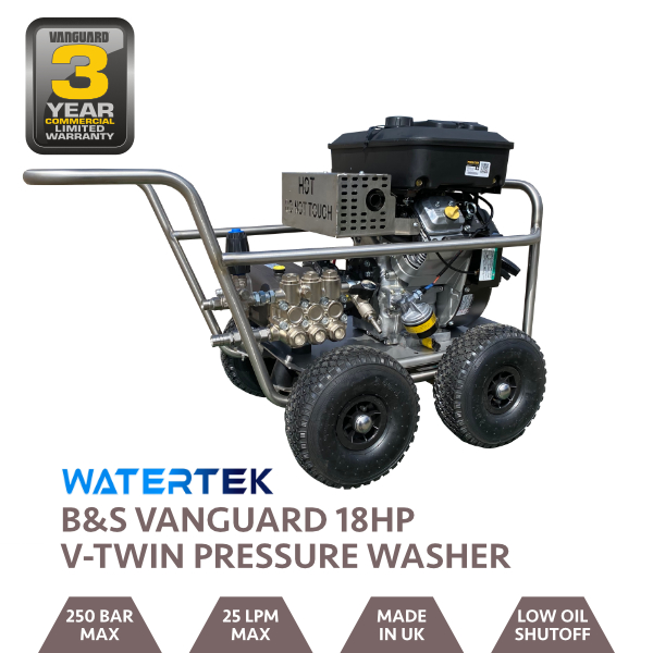 Watertek Briggs & Stratton 18HP Mazzoni 25LPM @ 250 Bar Wheelbarrow