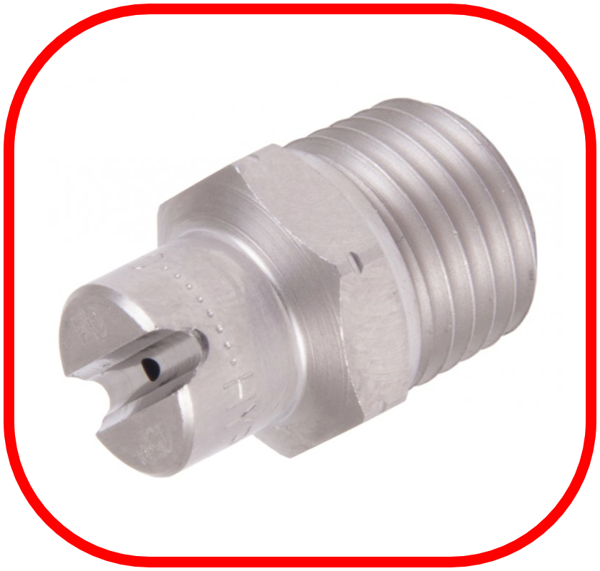 "Stainless Steel 1/4"" BSP Jet 15 Degree Nozzle"