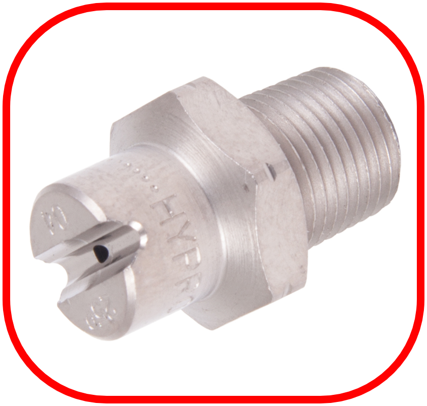 "Stainless Steel 1/8"" BSP Jet 25 Degree Nozzle"