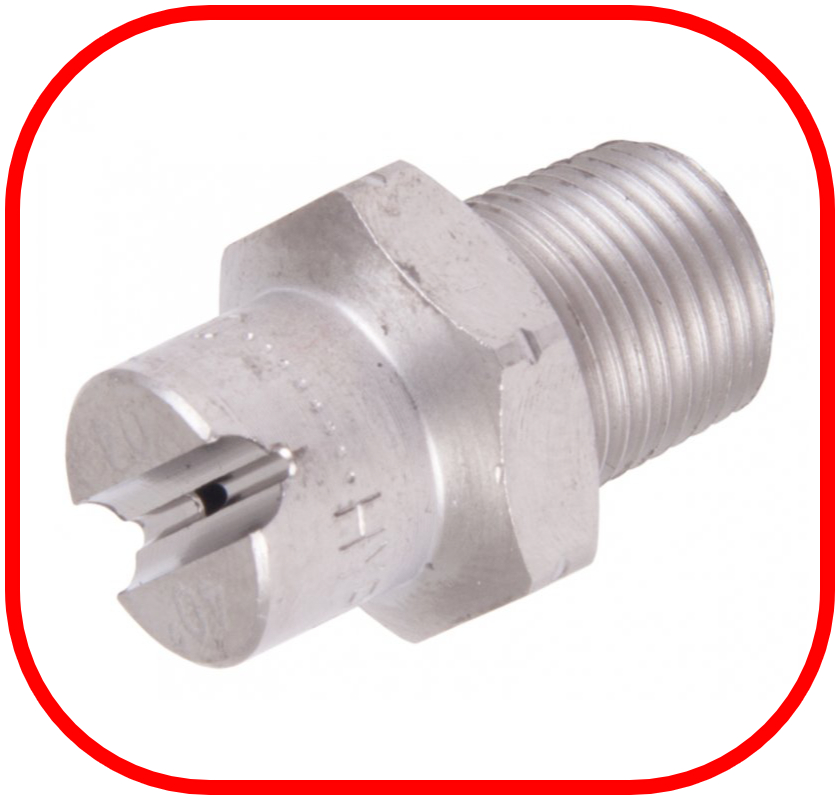 "Stainless Steel 1/8"" BSP Jet 40 Degree Nozzle"