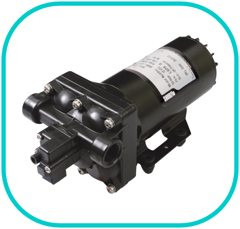 Shurflo 5059 Series Pressure Switch Pump 12v 60PSI 20LPM 1/2'' Female Ports