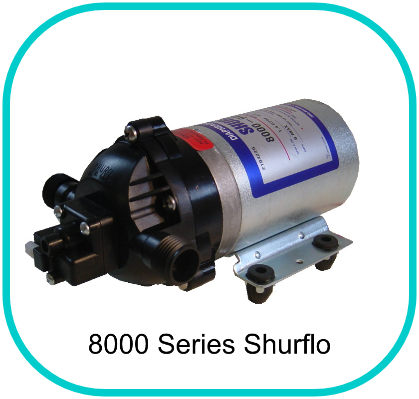Shurflo 8000 Series Pump 12v 150PSI 6.8LPM 3/8'' Female Ports