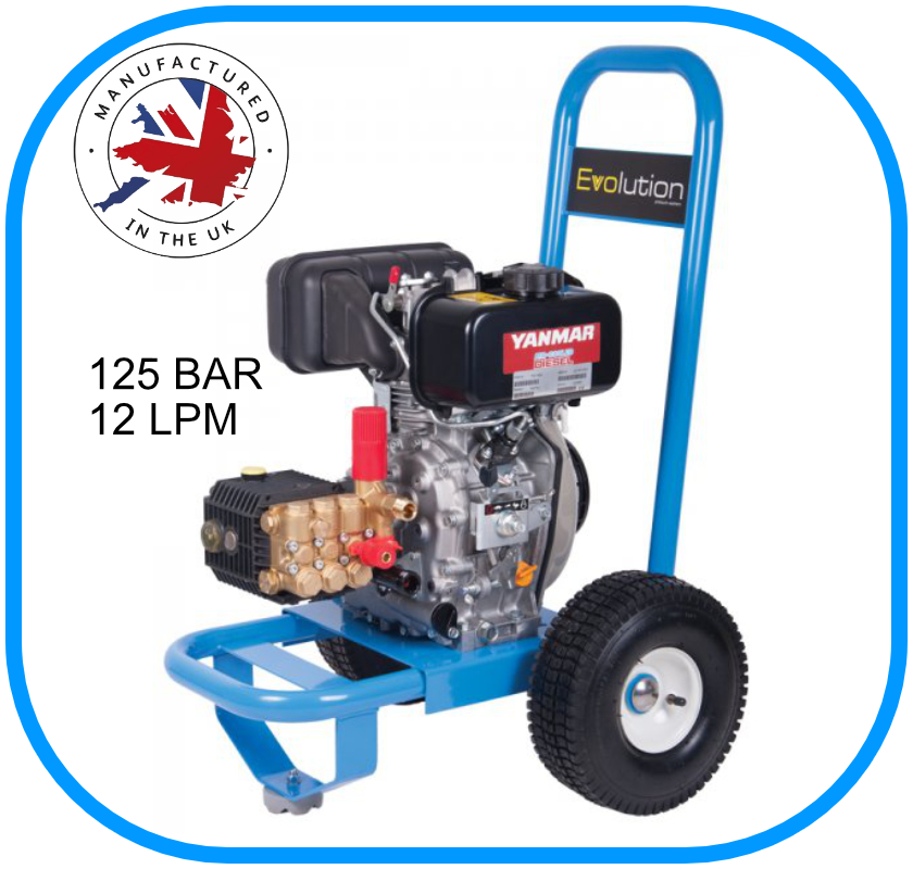 Evolution 1 Series Pressure Washer 12LPM 125BAR