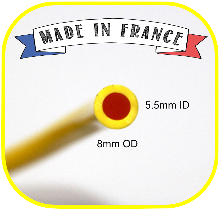 Yellow Micro-Bore WFP Hose 5mm ID x 8mm OD per Meter