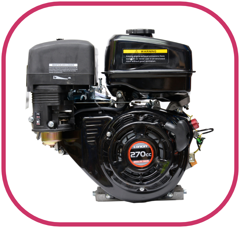 "8HP 1"" Parallel Shaft Loncin Petrol Engine with Recoil Start"