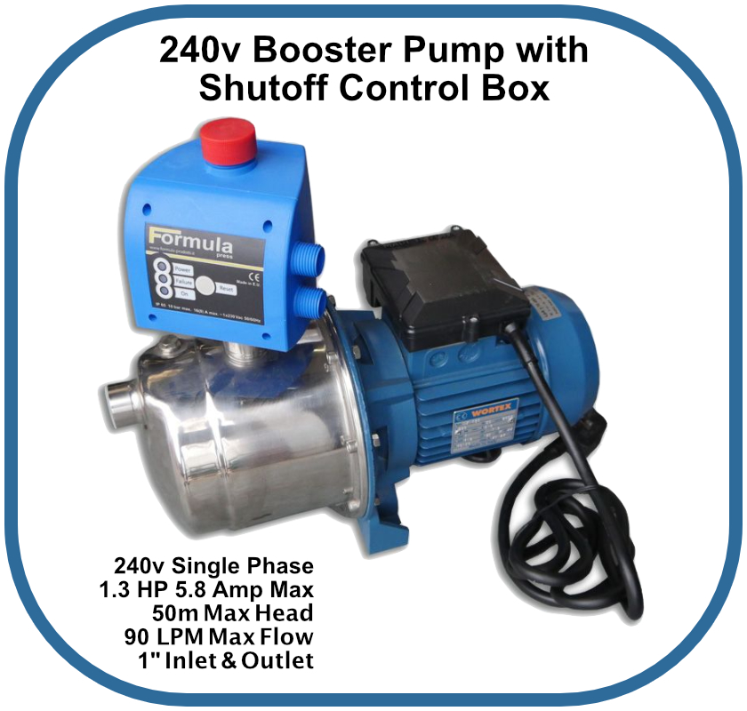 Booster Pump with Shut Off Controller 240v