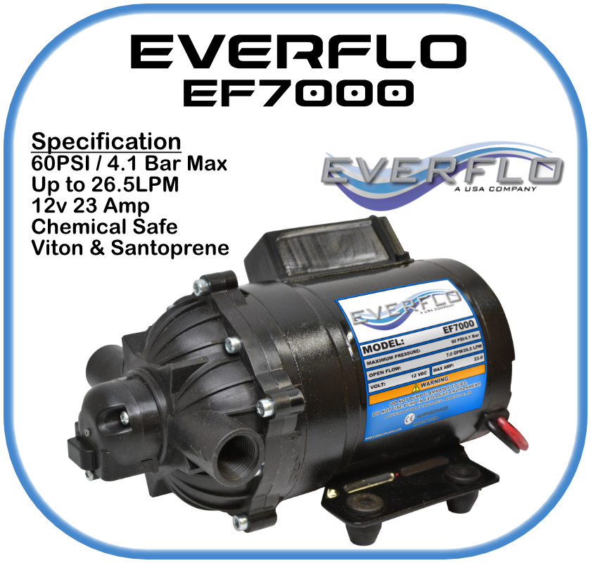 Everflo EF7000 Demand  Pump 12 Volt