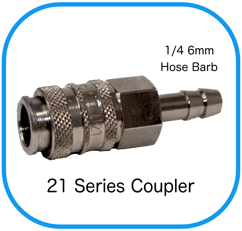 Series 21 Rectus Compatible Female Coupling x 7mm Hose Barb