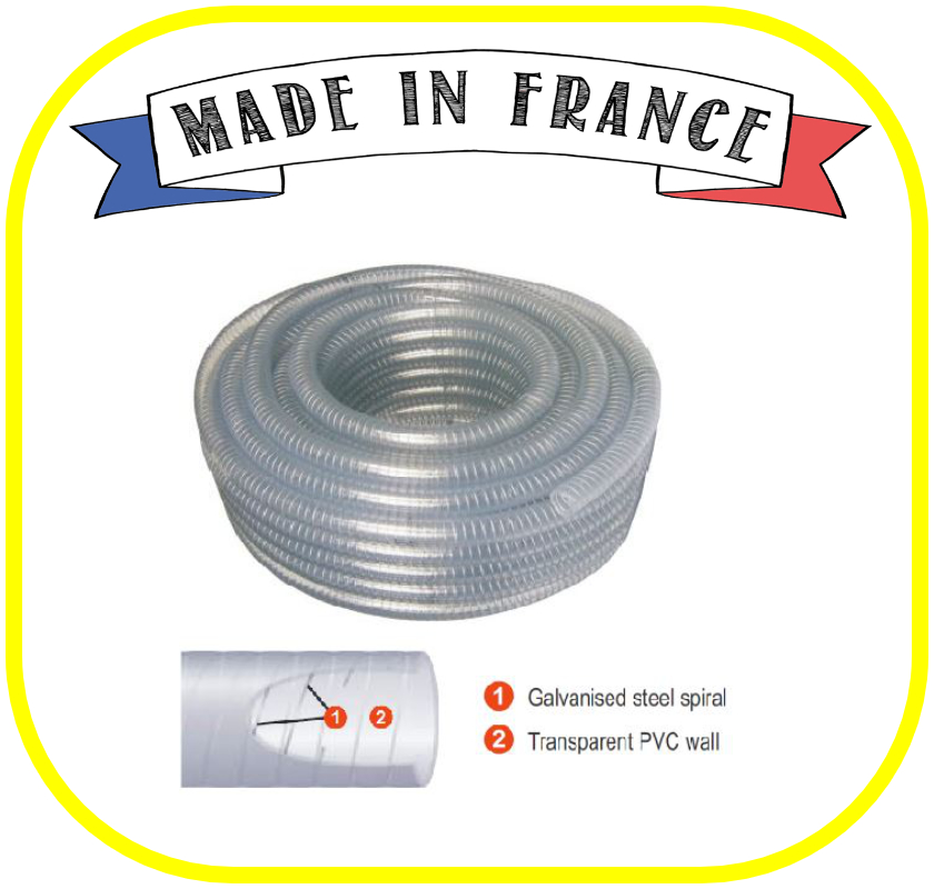 Clear Wire Reinforced Hose 12mm ID