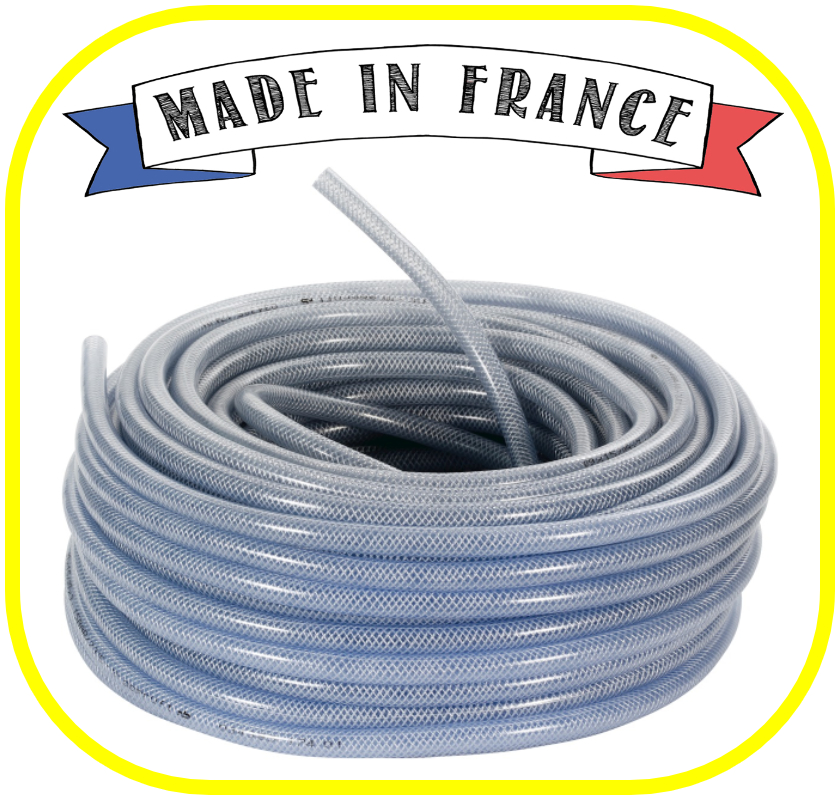 Tricoflex Clear Braided 12.5mm x 18mm 30 Meters