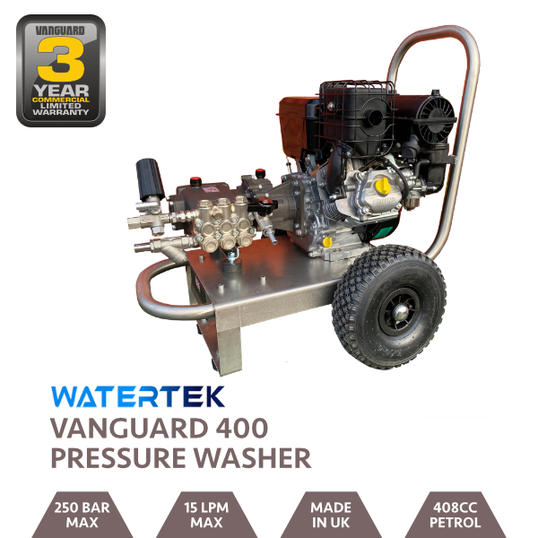 Watertek Pro Vanguard V400 15LPM 250 Bar Mazzoni Pressure Washer