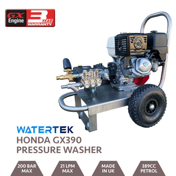 Watertek Pro Honda GX390 21LPM 200 Bar Mazzoni Pressure Washer