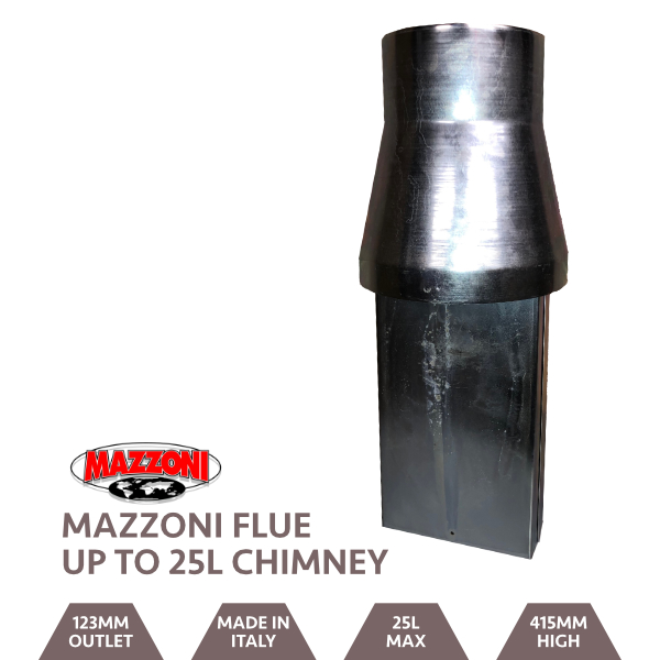 Mazzoni Venturi Chimney for 15 - 30 L Boilers